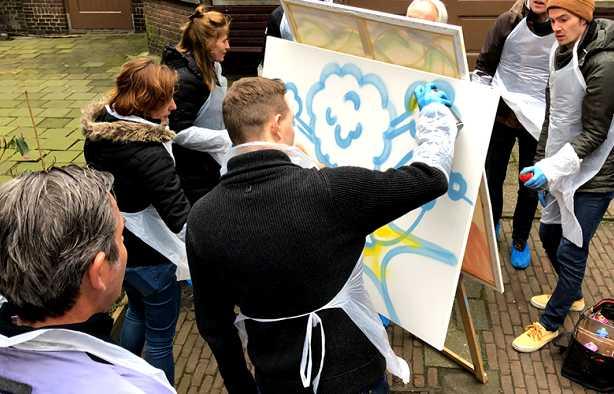 Foto 3: Graffiti Workshop in Leiden ervaren!