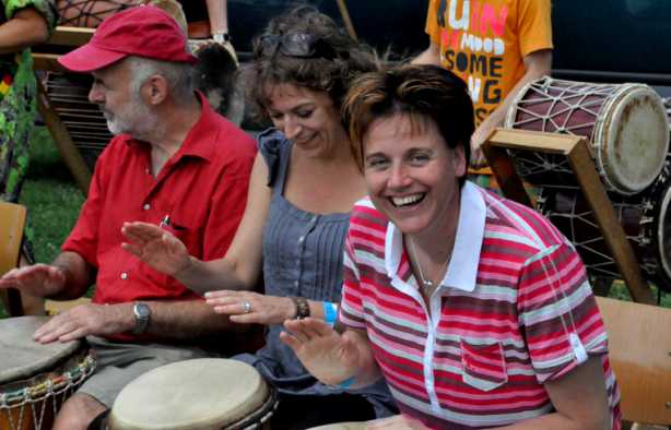 Foto 3: Ervaar de Powerjam - Percussie Workshop Afrikaans Trommelen