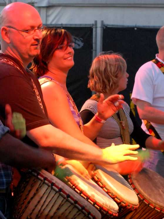 Foto 2: Ervaar de Powerjam - Percussie Workshop Afrikaans Trommelen