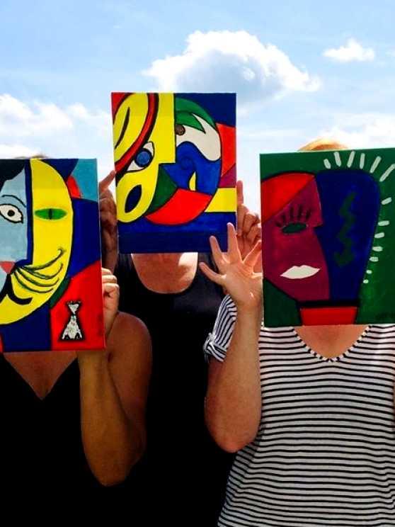 Foto 1: Schilderen als Picasso