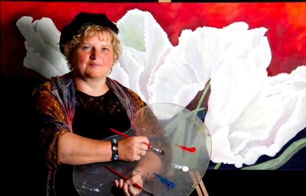 Foto 4: Workshop blote voeten schilderen, ludiek, creatief en heel veel lol