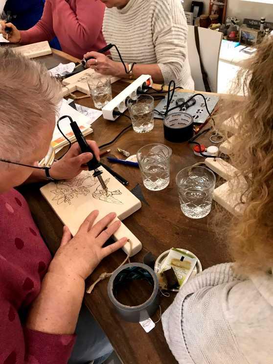 Foto 1: Workshop Houtbranden in Utrecht