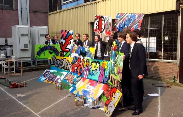 Foto 4: Graffiti Art maken met spuitbussen op waterbasis