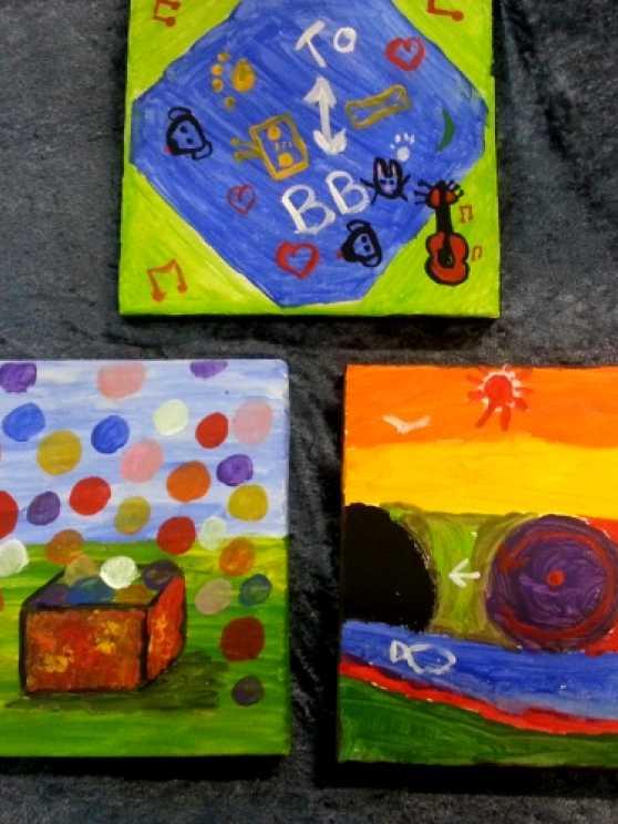Foto 5: Workshop blote voeten schilderen, ludiek, creatief en heel veel lol
