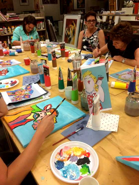 Foto 2: Workshop Dikke Dames & Grappige Dieren Schilderen