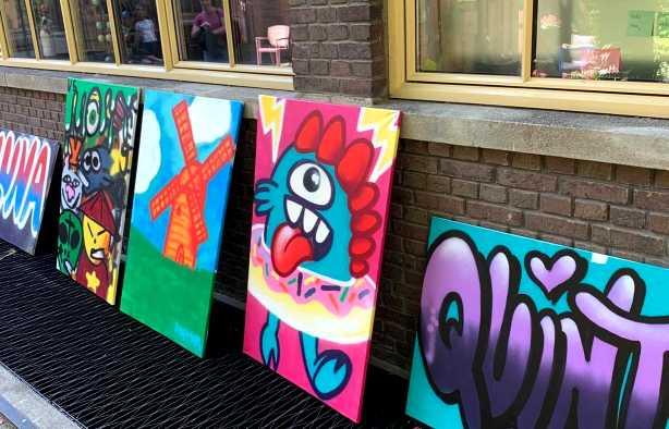 Foto 3: Graffiti Workshop van een echte Leidse Street-Art Kunstenaar!