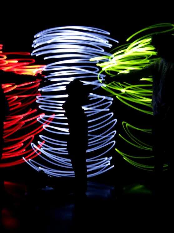Foto 1: Graffiti Art, maar dan met licht
