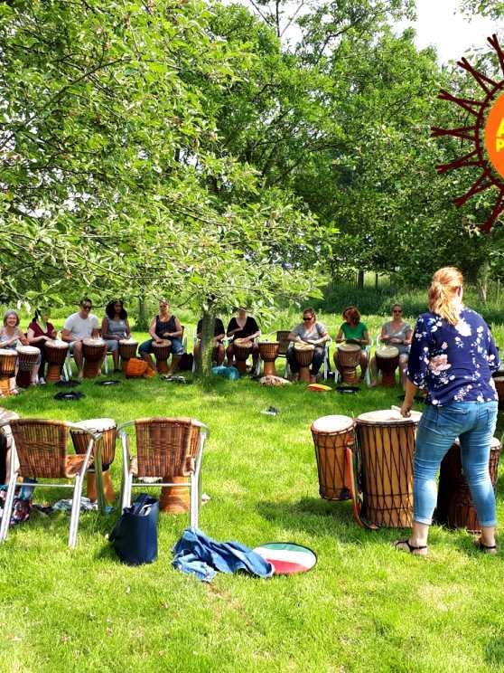 Foto 2: Swingende Workshop Afrikaanse Percussie