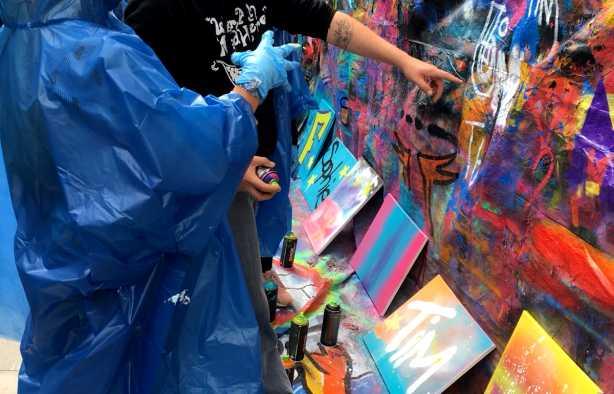 Foto 4: Graffiti Workshop in Leeuwarden verzorgd door een plaatselijke kunstenaar