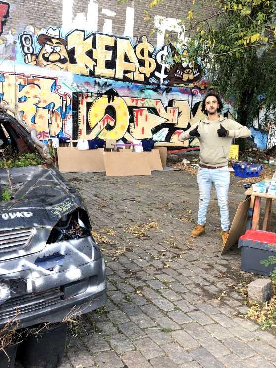 Foto 1: Ik ontvang jullie graag op een echte legale graffiti vrijplaats!