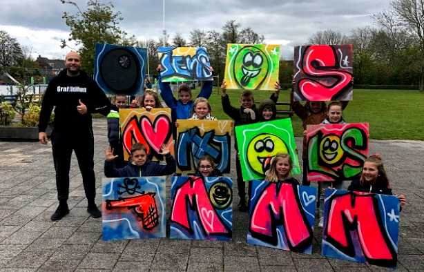 Foto 4: Graffiti Kinderfeestje (TIP)