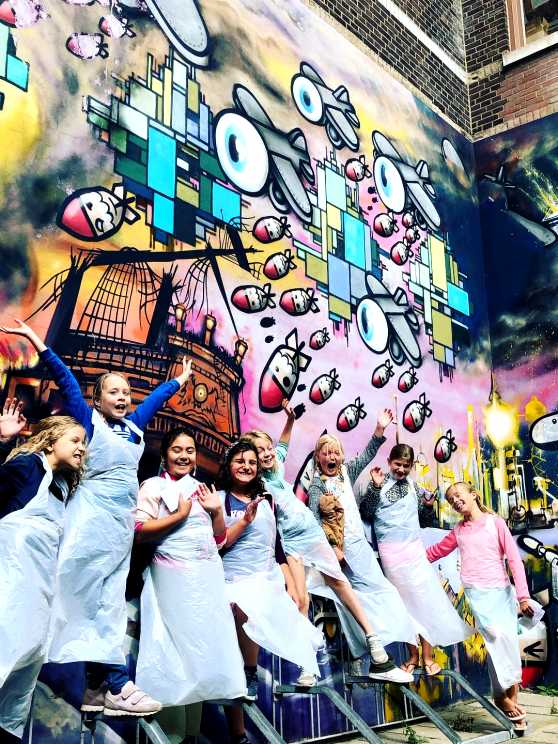 Foto 1: Graffiti Workshop van een echte Leidse Street-Art Kunstenaar!