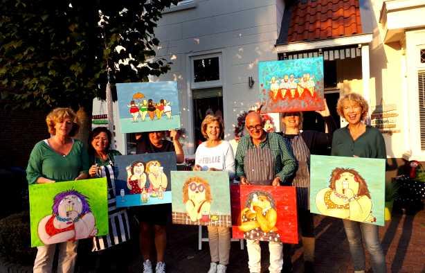 Foto 3: Dikke Dames Schilder Workshop - Samen dikke pret maken!