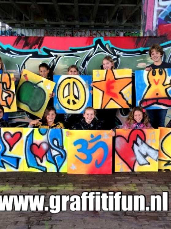 Foto 2: Graffitifun workshop (TIP)