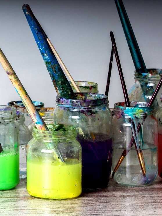 Foto 2: Maak gewoon iets moois voor jezelf, tijdens deze schilderworkshop.