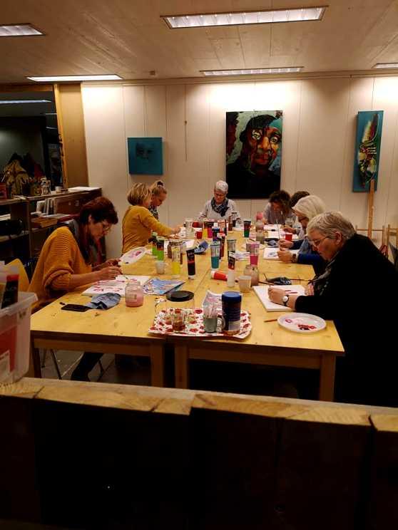 Foto 5: Workshop Dikke Dames & Grappige Dieren Schilderen