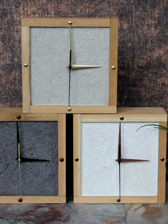 Foto 1: Maak je eigen houten eiken klok