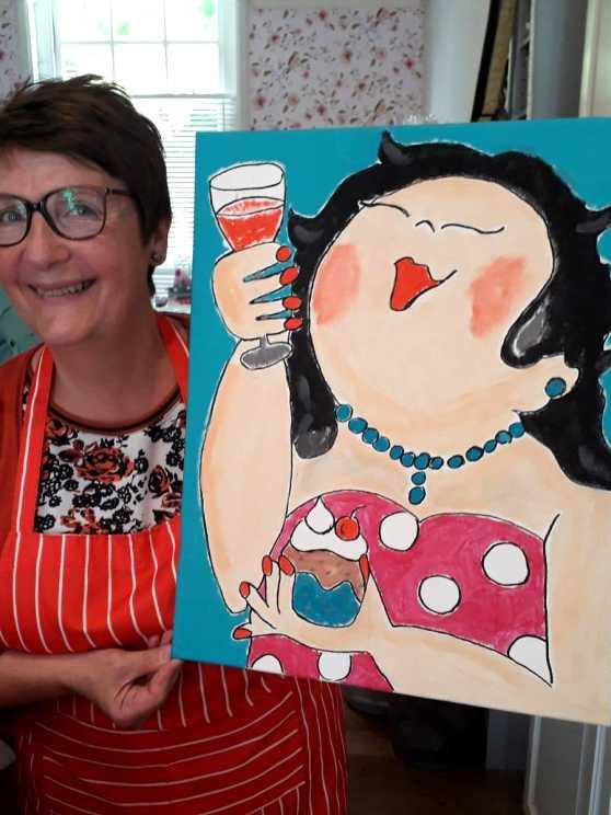 Foto 1: Dikke Dames Schilder Workshop - Samen dikke pret maken!