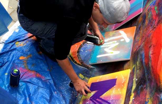 Foto 3: Graffiti Workshop in Leeuwarden verzorgd door een plaatselijke kunstenaar
