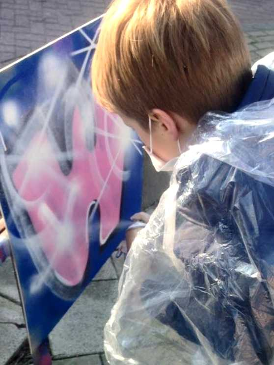 Foto 1: Kinderfeestje Graffiti - Gewoon aan huis bij jullie op locatie