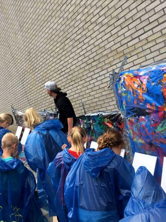 Foto 1: Graffiti Workshop in Leeuwarden verzorgd door een plaatselijke kunstenaar