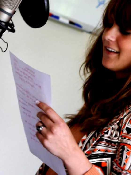 Foto 2: Laten we samen een eigen geschreven liedje opnemen