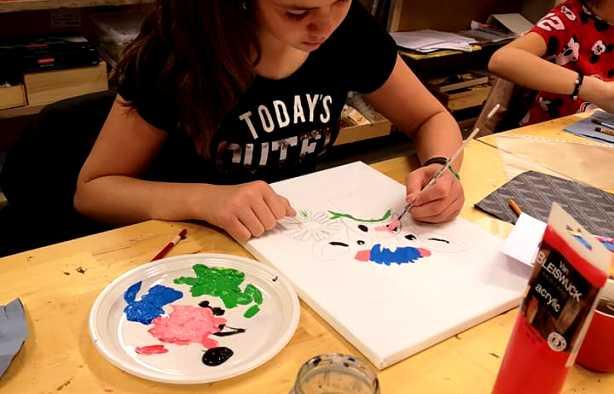 Foto 3: Workshop Dikke Dames & Grappige Dieren Schilderen
