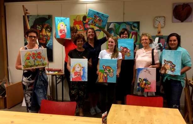 Foto 4: Workshop Dikke Dames & Grappige Dieren Schilderen