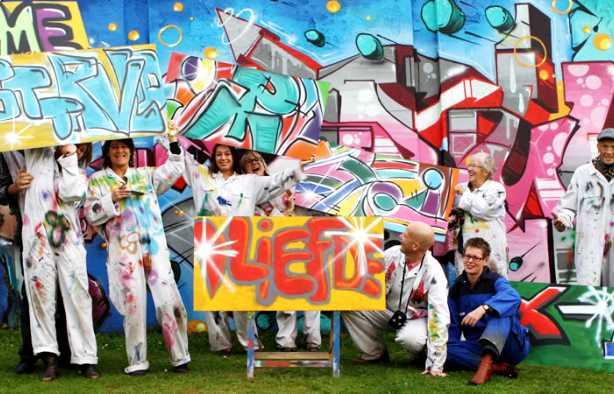 Foto 4: Leer de fijne kneepjes van het graffiti spuiten van een pro!