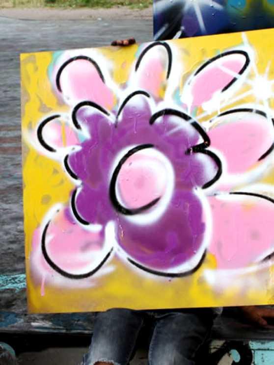 Foto 2: Leer de fijne kneepjes van het graffiti spuiten van een pro!