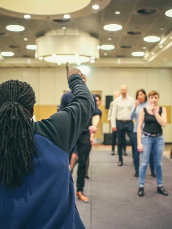 Foto 1: Dans en gebruik je lichaam als instrument
