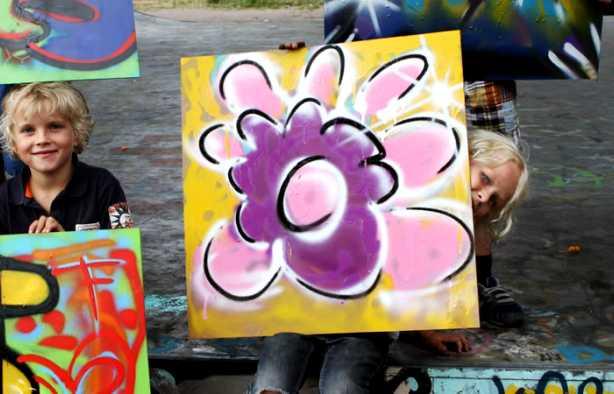 Foto 4: Leer online je eigen graffiti kunstwerk maken onder professioneel begeleiding van Jassin
