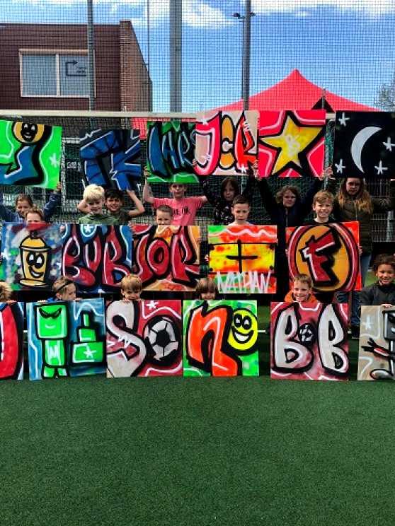 Foto 2: Graffiti Kinderfeestje (TIP)