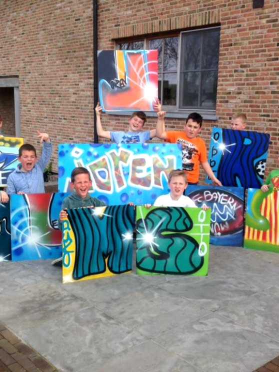 Foto 2: Kinderfeestje Graffiti - Gewoon aan huis bij jullie op locatie