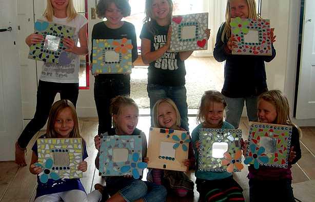 Foto 3: Workshop Mozaïek Kinderfeestje Zwolle
