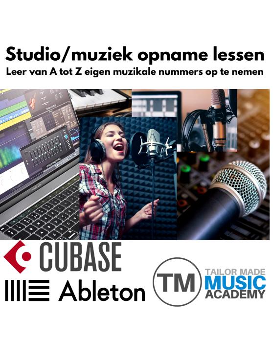 Foto 1: Studio/muziek opname lessen