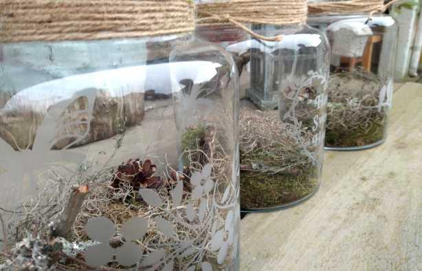Foto 3: Workshop Glas Etsen - Maak je eigen voorraadpot of bloemenvaas