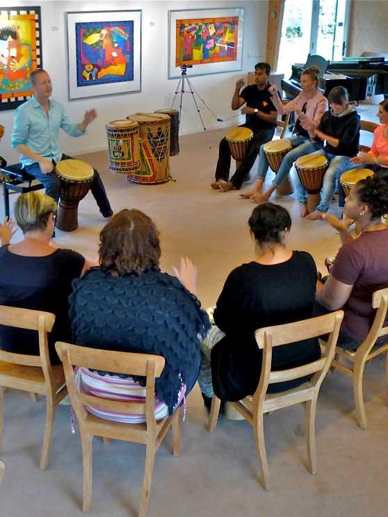 Foto 1: Swingende Workshop Afrikaanse Percussie