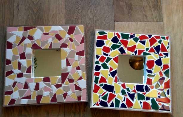 Foto 4: Workshop Spiegel Mozaïken - Maak een unieke spiegel!
