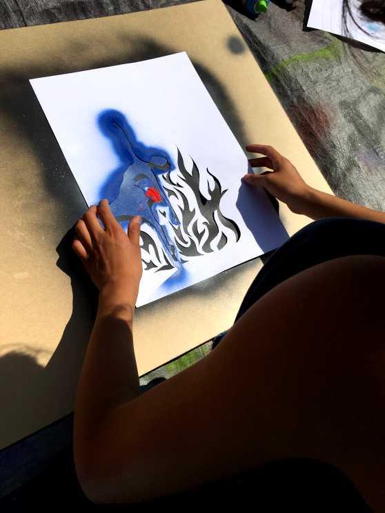 Foto 1: Ondek de eindeloze mogelijkheden van Stencil Art