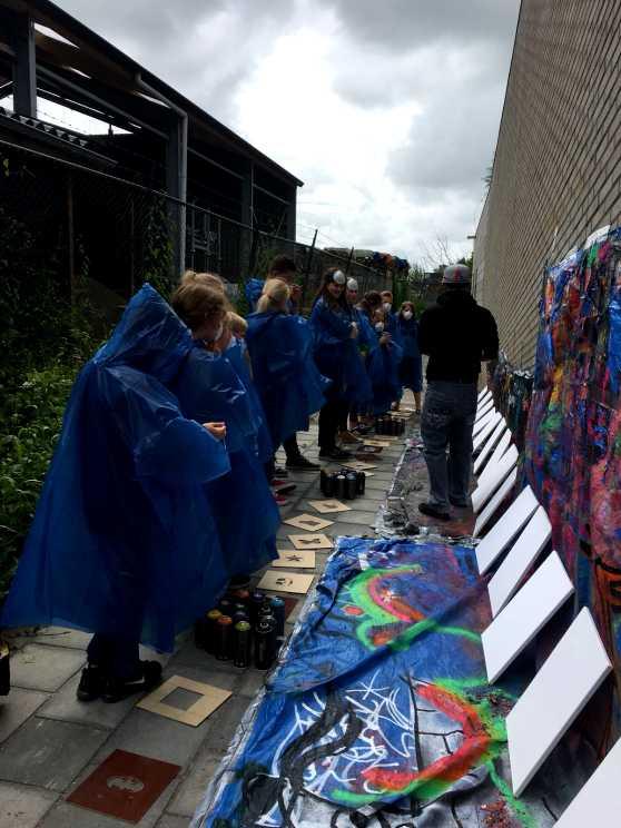 Foto 2: Graffiti Workshop in Leeuwarden verzorgd door een plaatselijke kunstenaar