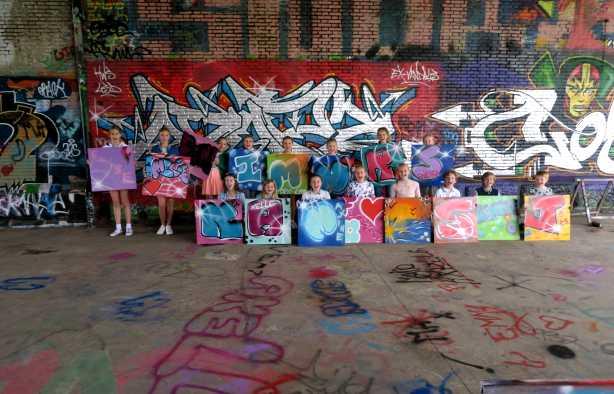 Foto 4: Kinderfeestje Graffiti - Gewoon aan huis bij jullie op locatie
